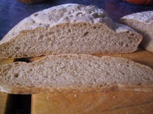 20% Bran plus rue ciabatta, sliced