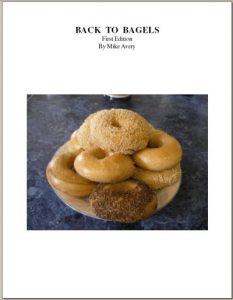 Cover of the back to bagels cookbook