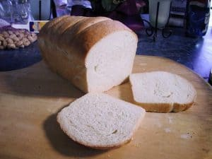 Basic white bread, sliced
