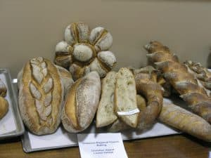 An assortment of regioal French breads rarely seen in the USA