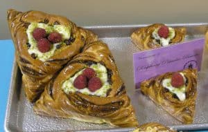Some of the pastries made by campers at Camp Bread - you see why pastries in the hotel just DIDN'T impress me!