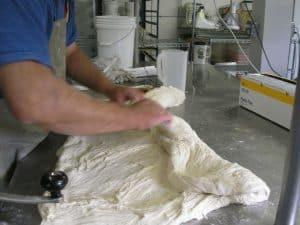 The dough gets folded again