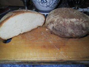 Hungarian Pain Au Levain, sliced