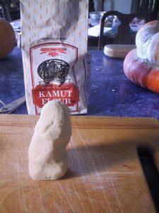Kamut flour at 60% hydratino