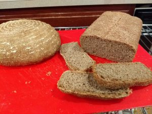 Our Whole Wheat and Rye pan loaf made with KitchenAid milled flour
