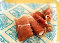 Slices of La Quercia's Acorn Prosciutto, photo courtesy La Quercia