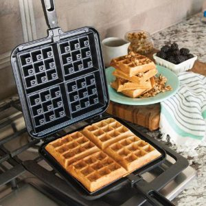 A NordicWare camping waffle iron similar to ours