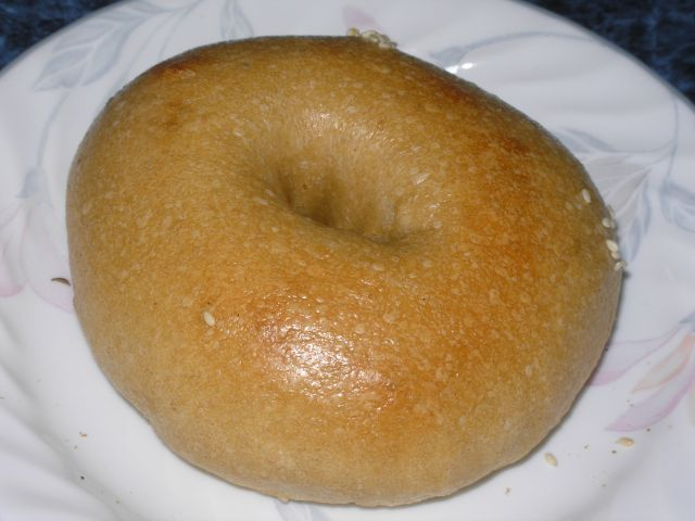 An earlier bagel.... coulda been baked longer!
