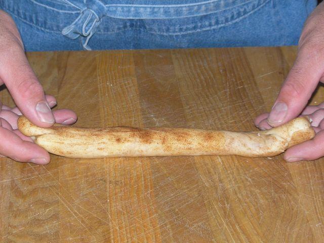 Start with a cigar of dough