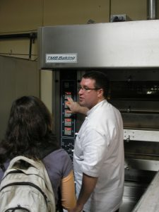 Brian showing us an oven