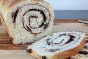 Sourdough cinnamon Raisin loaf, sliced