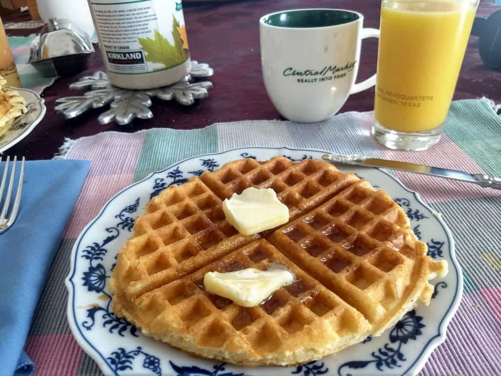 Sourdough waffles - part of a great breakfast!