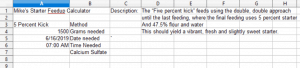 A look at the control are of the spreadsheet