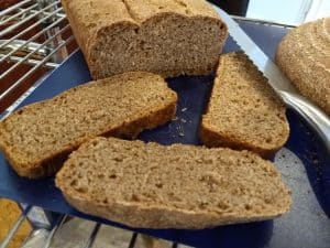 Our Whole Wheat and Rye boule made with WhisperMill milled flour