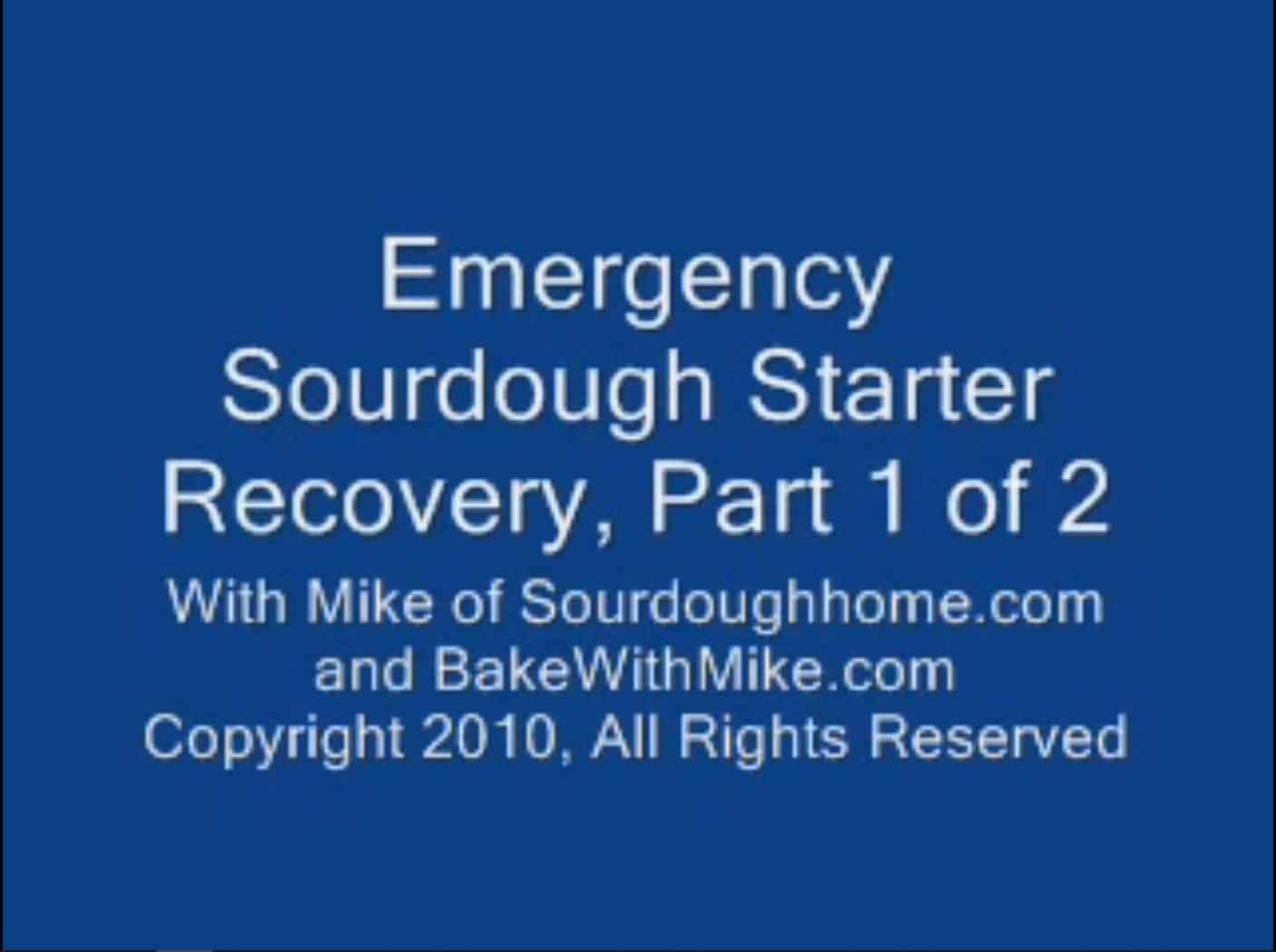 emergency starter recovery. part 1 of 2 thumbnail