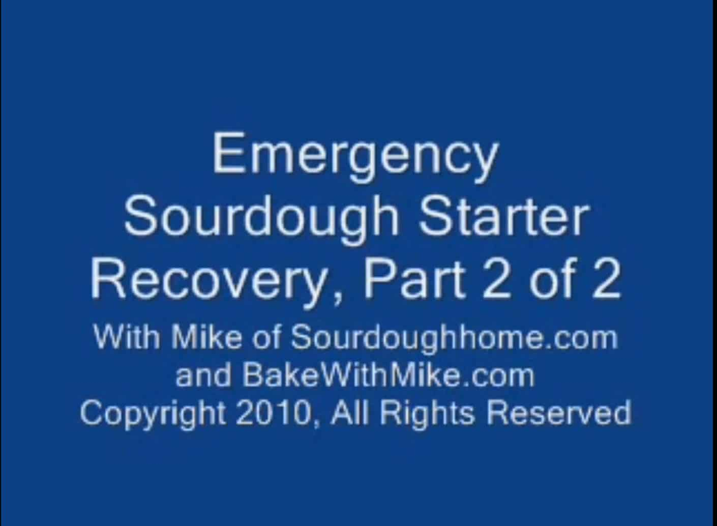 emergency starter recovery. part 2 of 2 thumbnail