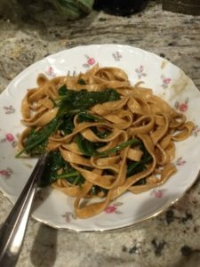 Fettucine with Tangy Wilted SpinachAC