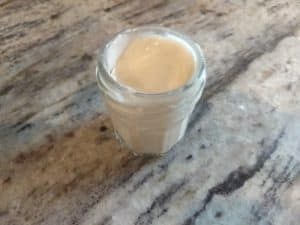 The little jar of saved scruffy starter