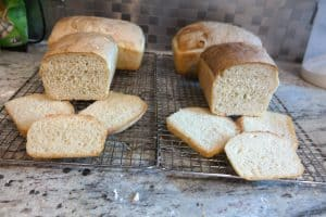 baguette loaves, hook left, roller right