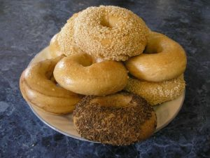 A plate of lovely bagels
